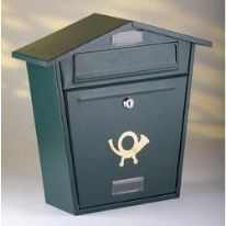 Aboria Galvanised Post Box - Black